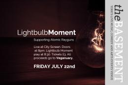 Lightbulb Moment live at City Screen Basement bar thisFriday!